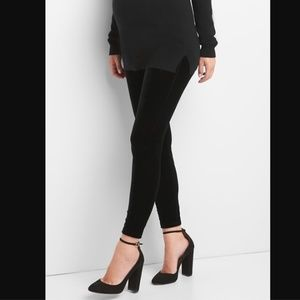 Gap Maternity Full Panel Black Velvet Legging Pant